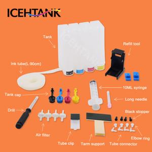 ICEHTANK Diy CISS réservoir d'encre Pour 21 22 Cartouche d'encre XL DeskJet F4100 F4135 F4140 F4150 F4172 F4180 F4185 imprimante CISS système