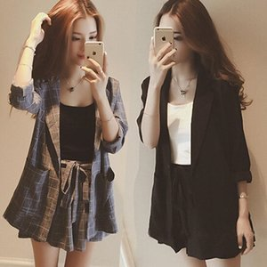 rW9BB 2019 no início da primavera novo estilo coreano moda primavera precoce Yujie moda Yujie Internet celebridade pequeno naipe roupas de verão terno das mulheres