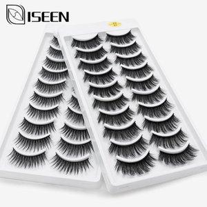 ISEEN 10DA 3D Mink Wimpern Natürliche Lang / Dick handgemachte Faux Wimpern Verlängerung Nerz Wimpern Make-up-Tools