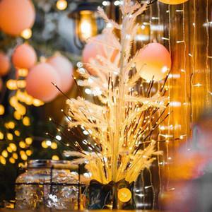 LED Willow Branch lampadaire Floral Lights 20 Ampoules Accueil Christmas Party Party Jardin Decor Party Decoration Home Décoration Lumières de jardin extérieures