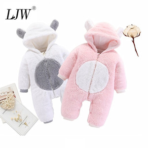 Cute Baby girl outfit new Autumn Winter Infant Thick Fluff Baby Rompers For Baby Boys Jumpsuit Newborn Boys Clothes