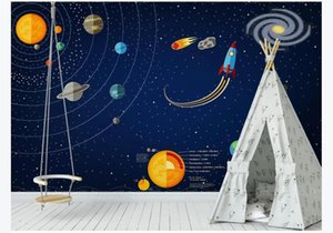 Custom modern Indoor Decor backdrop 3d wallpaper Hand-painted space universe stars children's room background Mural wall paper