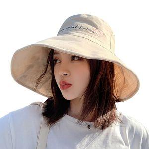 Designer Bucket Hat Cap Sun Hat Lady Fisherman's Hat Summer Beach Versatile Solar System Sun and UV Protection
