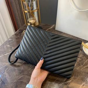Große Markenhandtaschen Damen Kupplungen praktische Leder Damen Retro-Umschlag Taschen Reißverschluss Abendtaschen Damen echtes Leder Art und Weise personali