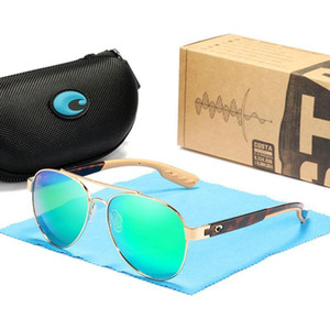 Mens Costa occhiali da sole 9035 occhiali da sole pilota Rovo colorato polarizzata lente Surf / pesca bicchieri donne design di lusso occhiali da sole BoxCase
