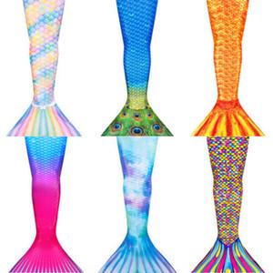 Mermaid Schwanz erwachsenen Frauen Badebekleidung der Eltern-Kind-Badebekleidung der Kinder-Leistungskleidung kann Badeanzug Badeanzug halten Flossen