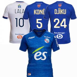 2020 2021 RC ستراسبورغ لكرة القدم بالقميص LALA DJIKU LIENARD سيسوكو المنزل بعيدا 20 21 الرجال والاطفال كرة القدم قميص