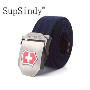 Supsindy Men's Canvas Red Metal Buckle Strong Military Belt Tactical Belts for Male Top Quality Men Strap Army Green
