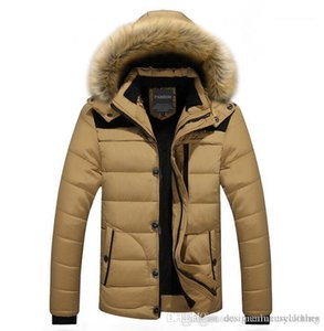Designer Down Jackets Fur Design Fleece Warm Thick Coats Clothes WINTER Men Hooded