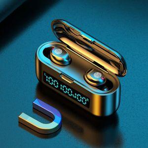 مصغرة التوائم بلوتوث اللاسلكية سماعة في الأذن سماعات الأذن التي تعمل باللمس التحكم ستيريو باس سماعة الألعاب السلكية سماعات آيفون 11 XS MAX الروبوت