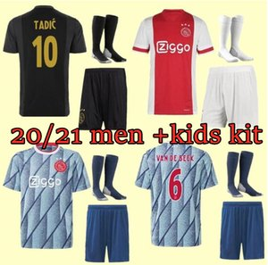 homens crianças kit 2021 Ajax FC de Futebol Home Kids kits 20/21 personalizado # 7 NERES # 9 HUNTELAAR # 10 Tadic # 11 PROMES # 22 ZIYECH Football Shir