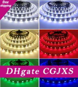 Moins cher en gros Led Strip 5050 Noir Pcb DC12V flexible Led 60 Led / M 5m / Lot Rgb Blanc chaud pour Noël Décoration