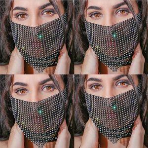 Shiny Headdress Face Chain Tassel Women for Venetian Mardi Gras Masquerade Masks Jewelry Nightclub Party Halloween Mask Yp761