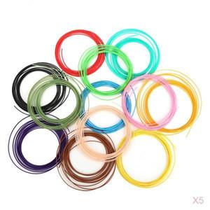 60pcs 3D-Drucker Glühfaden PLA 1,75 mm für Drucker drucken Pens 12 Farben 5m