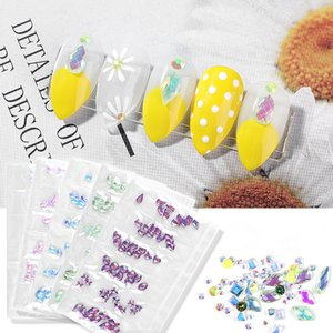 Nail Jewelry AB Rhinestonbe Manicure Shaped Diamond 6 Bag Crystal Drill Colorful Mixed Champagne Drill F642