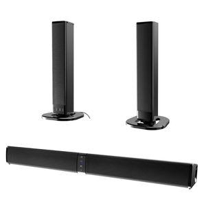 20W Haut-parleurs Bluetooth Soundbar Séparables caisson de basses 4.0 canaux 3D Surround Sound avec micro pour PC Home TV