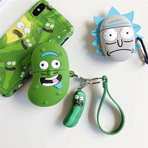 Fashion airpods case creative cartoon funny cucumber wireless bluetooth silicone protective cover anti-fall shell airpods 1 2case