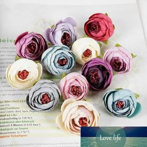 DIY 16 Colors Tea Rose Bud Small Peony Fake flower Artificial Wedding Flowers Silk Flowers Head Party