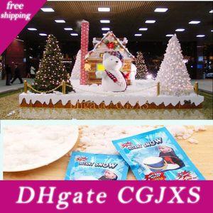 Immediata artificiale Magia della neve polvere istantanea Snow Magic Prop Diy Fluffy ammortizzante Natale Wedding le decorazioni Bianco Neve artificiale in polvere