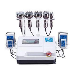 Touch Screen 6in1 Cavitation Ultrasonic Fat Burning Slimming Bipolar RF Face Lift Vacuum Weight Loss Lipo Laser Machine Spa Beauty Equipment