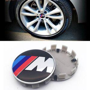 4pcs / set 68mm blanco azul 10 pines rueda de coche del centro de los casquillos de eje del borde Caps Cubiertas logotipo de la insignia del emblema de BMW 1 3 5 7 X3 X5 M3 M5