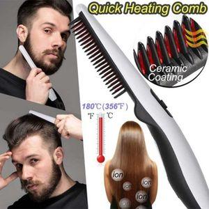 Hombres Mujeres eléctrica de múltiples funciones Peine rápida Calefacción Barba plancha de pelo de cepillo peluquería Herramientas puerto Viajes