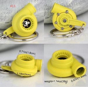 Turbo Favorite Ring Creative Bearing Keychains Turbine 13 Spinning Keyfob Keyring Car Chain Keychain Sleeve Turbocharger Key Parts Fans RAm