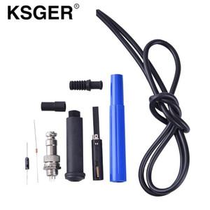 KSGER 9501 solda Handle Set Para STC OLED STM32 OLED T12 Temperatura Estação de solda controlador DIY SET Digital T12