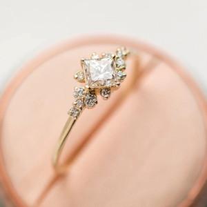 10pcs europeo e femminile anello di diamante di zircon di modo americano adatto per regali gioielli cerimonia nuziale di aggancio delle donne G-122