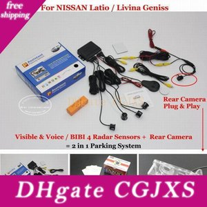 Liislee For Latio  Livina Geniss -Car Parking Sensors Rear View Camera =2 In 1 Visual  Bibi Alarm Parking System