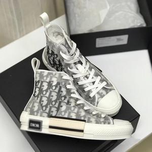 B23 Oblique High Low Top Sneakers Plattform DIOR Obliques Technische Leder LuxuxMens Schuhe Womens Trainers
