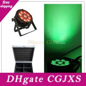 6 piezas con Flightcase Dj IP65 LED Par Can etapa de lavado Led luz de la igualdad Rgbwa Uv 6in1 impermeable 9x18w LED PAR