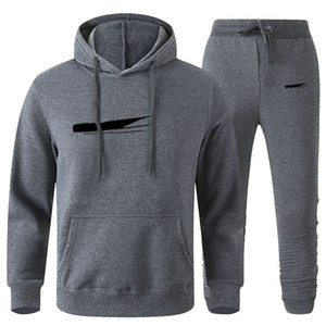 Homens Designer Pullover Hoodies Calças Fleece Tracksuit Mens Suor Suites Patchwork Preto Cor Sólida 2020 Outono Inverno Mens Sportsuit Womens