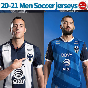 2021 Monterrey Football Jerseys Mexico League 20/21 Hommes Home Home Football Chemises sur mesure Uniformes de football