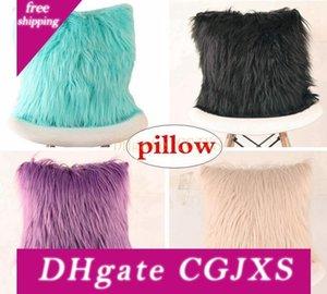 Retail Xmas Fur fronha capa de almofada Home Decor ouro Stamp almofadas decorativas Almofadas Caso Pillow Amor Sofá