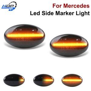 Akıllı W450 W452 A-Class W168 Vito W639 W447 Citan W415 - 2x Araba Şekillendirme Led Side Marker Işık Dönüş Sinyal lambaları