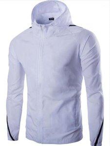 Designer Einfacher lange Hülsen-dünne Reißverschluss-Mann-Stadt-beiläufiger Mantel 2020 Frühling-Sommer-Kleidung-Mann-Sport Hoodies