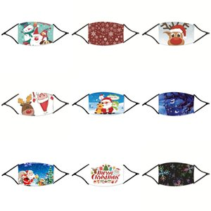 Máscara Kid Natal dos desenhos animados PM2.5 Anti-embaçamento poeira Proteção lavável Hanging Ear Tipo Christmas Baby Máscara Cat dinossauros Dog Estrelas Pand # 715