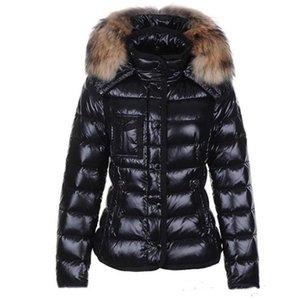 mulheres baixo do revestimento da pele gola do casaco de Inverno parkas Coats Top Quality Mulheres Winter Casual Quente Outdoor Feather Outwear com capuz