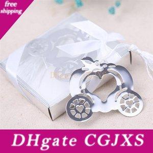 Carro de la calabaza Marca señal del metal caja de regalo de boda de embalaje favores de partido de decoración regalos fuentes de la boda para los huéspedes --- Fp1010
