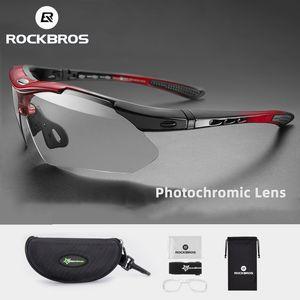 ROCKBROS fotocromatiche vetri di riciclaggio della bicicletta UV400 Sport Eyewear Ultralight equitazione MTB Occhiali da sole Uomini Apparecchiatura di pesca Bike