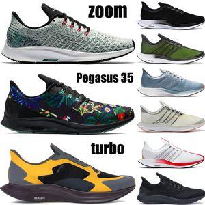 Новый Pegasus 35 Turbo кроссовки React Zoom Triple Черный Белый Nathan Bell Gold Dart Floral Мужчины Женщины Спортивные кроссовки