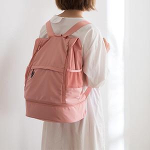 Сумки на открытом воздухе йога хранения рюкзаки фитнес сухой мокрый разделительный колонн позиция большая емкость рюкзак спортивный многокомнатный мода