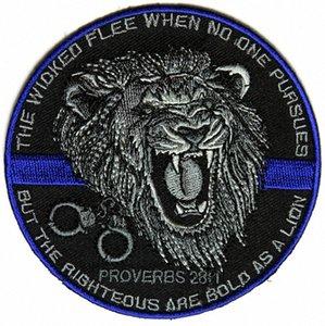 Top-Qualität Der Gerechte Bold As A Lion Patch für Law Enforcement Real Man Chest Jacke Eisen auf Flecken-freies Verschiffen ENRO #