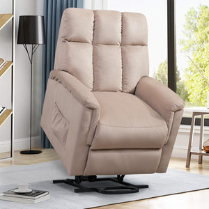 ORI FUR. Power Lift Soft Chair Fabric Recliner Salon Salon Canapé avec PP038656EAA Télécommande