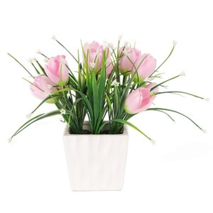 small artificial flower bonsai plant artificial plastic tree plant with flower pot plant interior decoration
