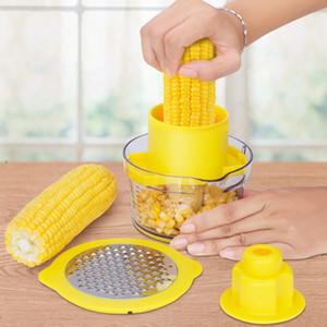 Domestic Multi-função de milho debulha máquina inoxidável faca milho aço raspador Peeler Set 400ML