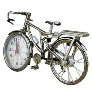 دراجة شكل إنذار الساعات الجدول المنزلية المنبه الإبداعية الرجعية عدد كتم الصوت المنبه التنسيب الديكور المنزلي هدية DBC DH0733