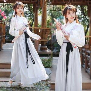 Disfraces China National Hanfu vestido Mujer Dancewear antiguas dinastía Tang Fairy Dress espadachín para trajes de la etapa de Cosplay