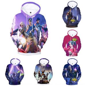 venda Fortnite Hot camisola Digital noite do jogo periférica camisola com capuz 3D impressão digital Weitong camisa AD2rf